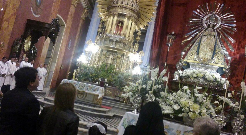 Entronización del Señor y la Virgen del Milagro. Foto: Pablo Yapura