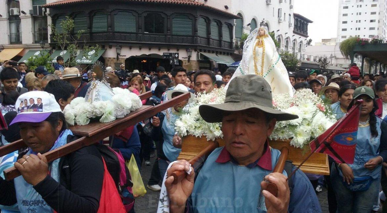 La llegada de los peregrinos a la Catedral.